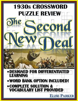 1930s Crossword Puzzle Review: The Second New Deal