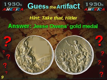 "1930s (Great Depression) America ""Guess the artifact"" - engaging (pics & clues)"