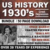 1930's Great Depression Cinderella Man FDR Stock Market Cr