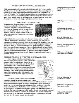 1933-1939 Germany's Steps To World War 2 Programmed Reading