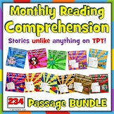 234 fiction MONTHLY Reading Comprehension Passages and Questions BUNDLE