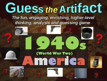 """1940s (WWII) America """"Guess the artifact"""" game: fun, engaging (pictures & clues)"""