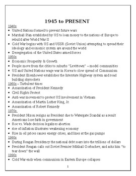 1945 - present