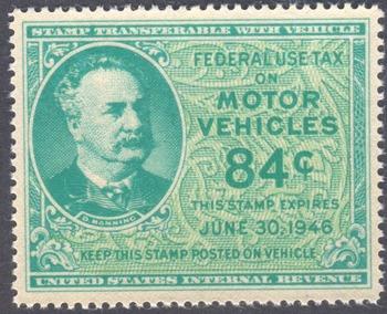 1946 Motor Vehicle Use Stamp