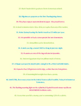 195 More Random Facts!!