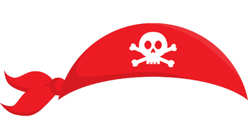 195 Pirate Props for Photo Booth Dramatic Play or Reader's Theater