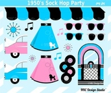 1950 sock hop clipart commercial use