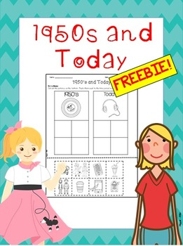 1950 and Today Cut and Paste Sort FREEBIE