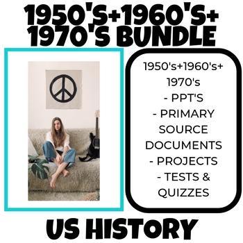 1950's COLD WAR + 1960's CIVIL RIGHTS + 1970's VIETNAM WAR US History Bundle