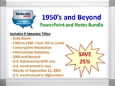 1950's and Beyond PowerPoint and Notes Bundle