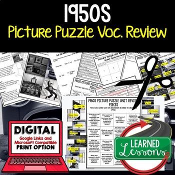 1950s postwar boom activity picture puzzle unit review study guide rh teacherspayteachers com 1950s us history study guide Study Guide Template