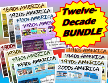 US HISTORY: ALL 12 Themes-Of-The-Decade units (1890-2010):