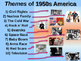 1950s - 1960s - 1970s Themes the Dacade U.S. History PPT Bundle