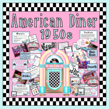 1950s AMERICAN DINER ROLE PLAY & TEACHING RESOURCES EYFS KS1 KS2 FOOD