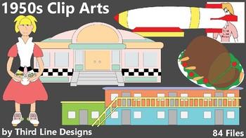 1950s Clip Arts