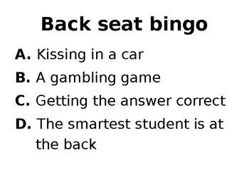 1950s ESL Slang Quiz