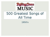 1950s Greatest Songs - Based on Rolling Stones Top 500 son