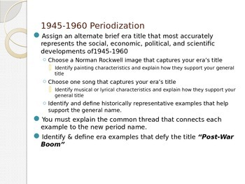 1950's Intro Periodization Activity