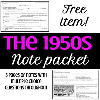 1950s Note Packet
