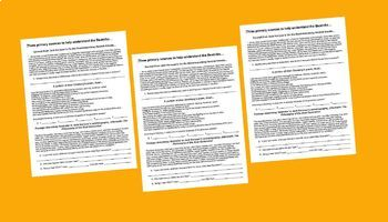 1950s Primary Source Bundle (6 different documents w text-dependent questions)