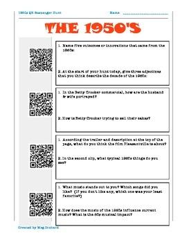 1950s QR code Scavenger Hunt!
