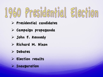 1960 Presidential Election: Kennedy's Domestic Policy
