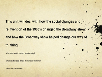 1960's Counter Culture and Broadway