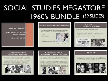 1960's Civil Rights Selma Reading Writing Activity Vietnam War Bundle