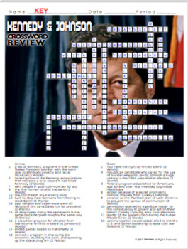 1960s Kennedy Johnson Crossword Puzzle Review