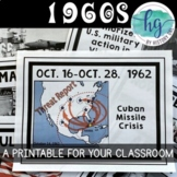 1960s Printable Timeline