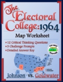 1964 Electoral College Worksheet:  Election of 1964 Map Worksheet