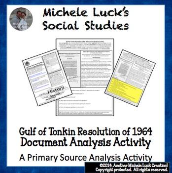 1964 Gulf of Tonkin Resolution on Vietnam Document Analysi