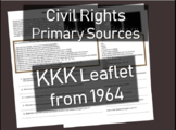 1964 Ku Klux Klan (KKK) Leaflet - Primary Source Document with guiding questions