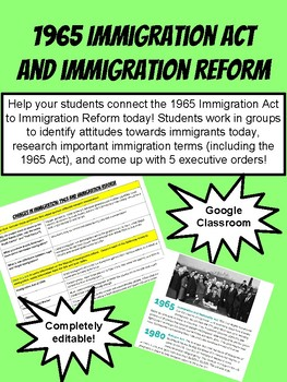 1965 Immigration Act and Immigration Reform