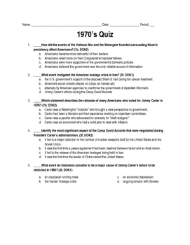 1970's Quiz