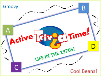 """1970s Trivia Game: """"Jump in the Box"""" - Pre-Animated File. Fun and Active!"""