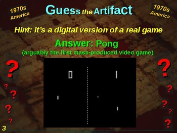"1970s America - ""Guess the artifact"" game: fun, engaging PPT w pictures & clues"