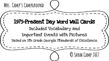 1975-Present Day Word Wall/Bulletin Board Cards
