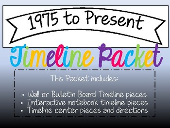 1975 to Present Timeline Packet