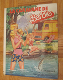 VINTAGE LA CARAVANE DE BARBIE FRENCH CHILDREN'S PICTURE BOOK Touret Incl SHIP