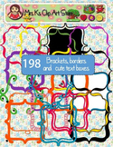 198 Brackets, Borders, Frames and Cute Text Boxes