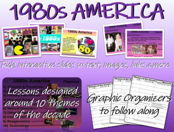 US HISTORY -1980s America - visual, textual, engaging 50-s