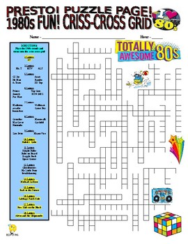 1980s FUN Puzzle Page (Wordsearch and Criss-Cross)