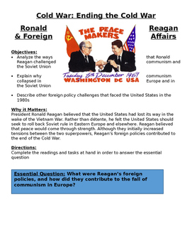 1980s Ronald Reagan & Foreign Affairs - Cold War Affecting countries Lesson