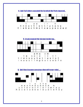 1984: 10 Quotefall Puzzles—A Great Spelling Workout!