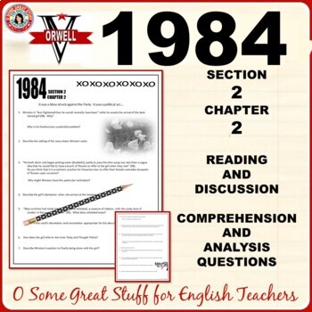 1984 Comprehension and Analysis Activities for Section 2 Chapter 2 with Key