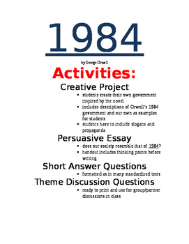 1984 Activity Packet