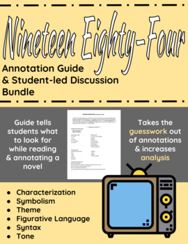 1984 Annotation Guide and Student-led Discussion bundle