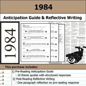 1984 - Anticipation Guide & Post Reading Reflection