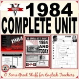1984 UNIT with CREATIVE AND ANALYTICAL ACTIVITIES No-Prep Comprehensive Bundle